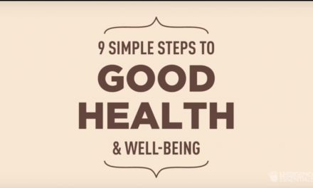 9 simple steps to good health & well being